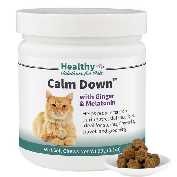 Cat Calming Aid Soft Chew Supplement with Ginger and Melatonin