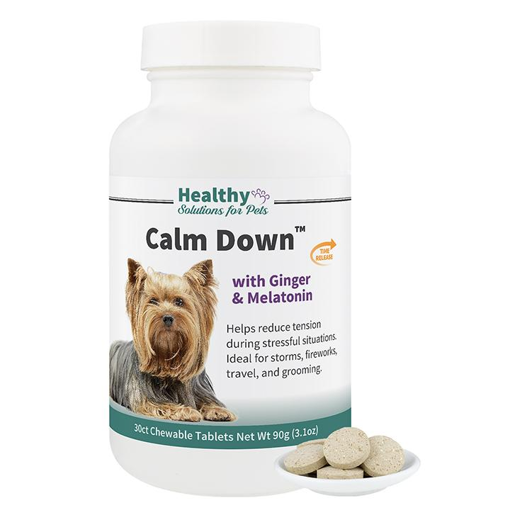 Calming Aid Tablet with Ginger and Melatonin for Dogs