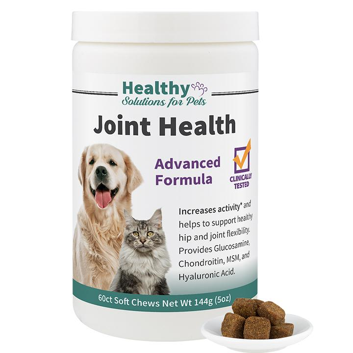 Advanced Joint Support Soft Chew Supplement Clinically Tested for Dogs and  Cats