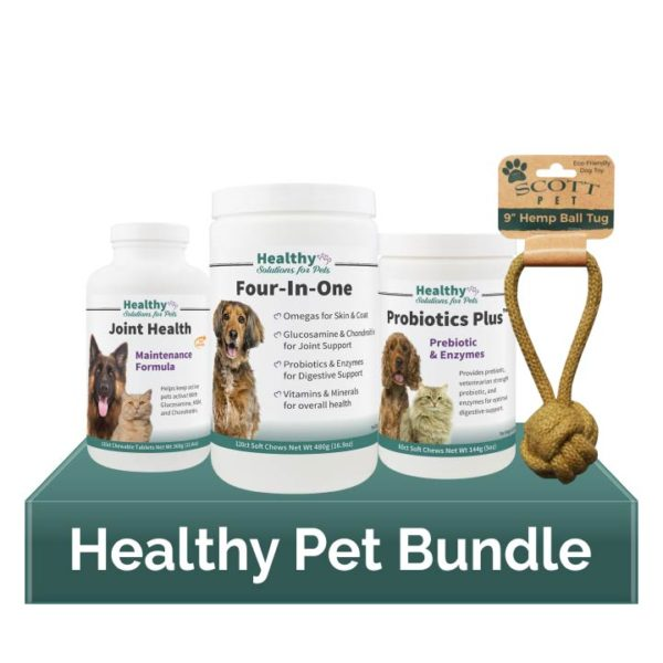 Healthy Pet Supplements Bundle Pack and Hemp Toy
